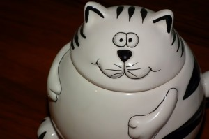 I don't want to dust your cat cookie jar. Ever.